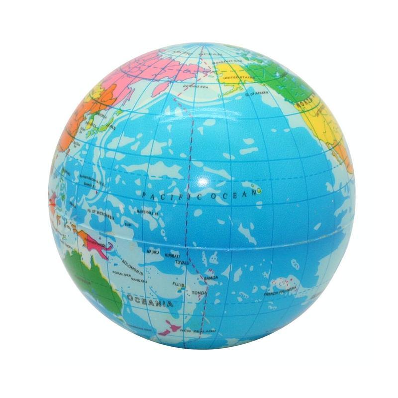 Squeeze go green globe stress balls custom printed - Luminaire boule papier ...