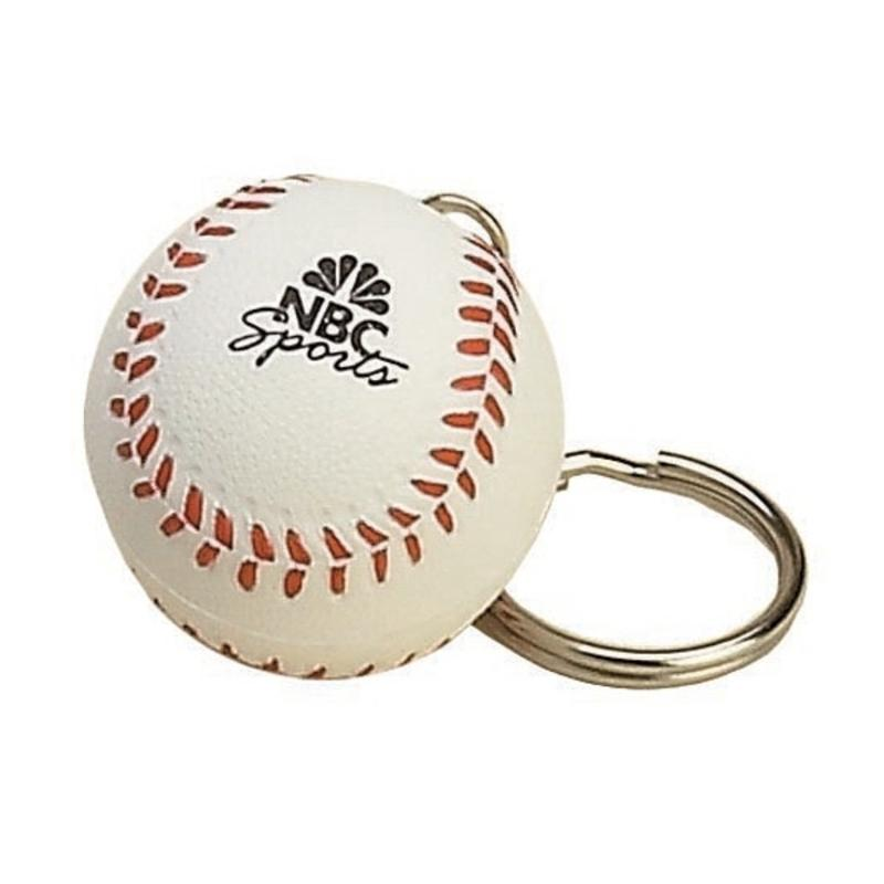 Baseball Stress Ball Keychains