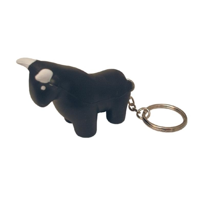 Bull Stress Ball Keychains