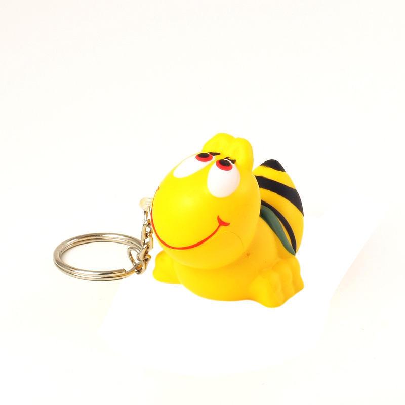 Cute Bee Logo Cute Bee Stress Ball Keychains