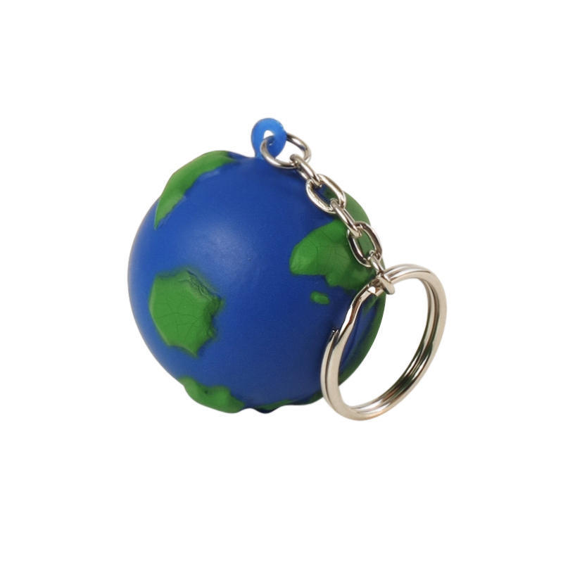 Earth Globe Stress Ball Keychains