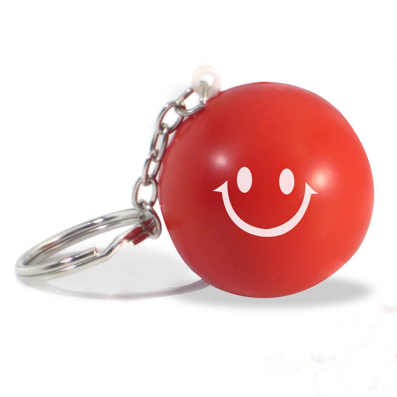 Face Stress Ball Keychains