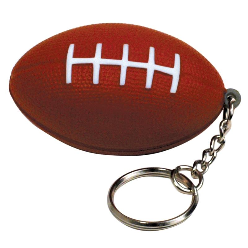 Football Stress Ball Keychains